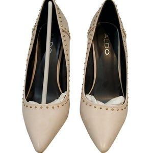 Aldo beige leather heels